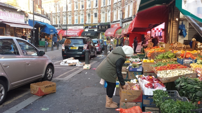 Thrown out foods are often left on the streets in front of stores - free for people to rummage through